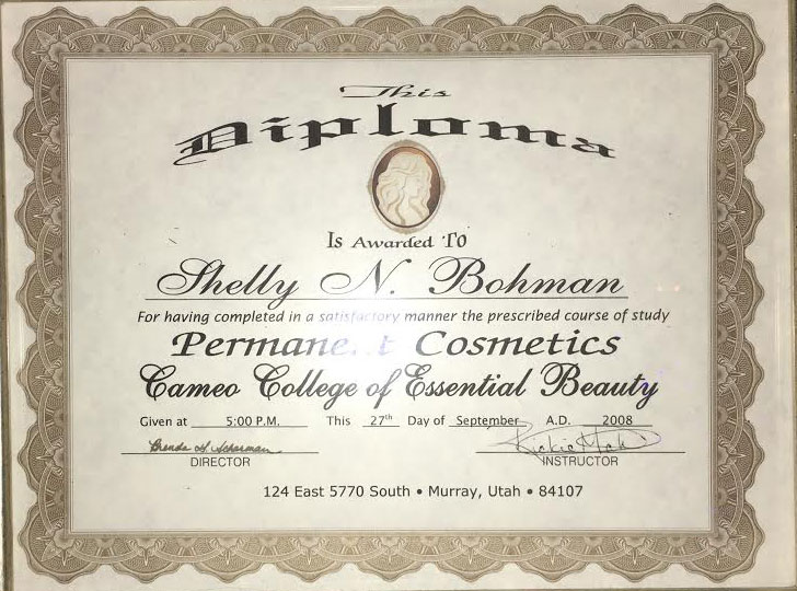 permanent-cosmetics-of-utah-cameo-college-certificate